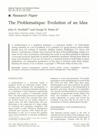 The Problematique: Evolution of an Idea (1999)
