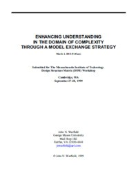 Enhancing Understanding In The Domain Of Complexity Through A Model Exchange Strategy